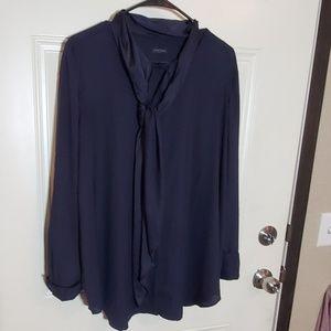 Ann Taylor navy blue blouse